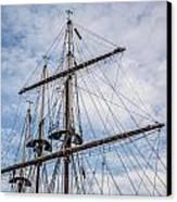Tall Ship Masts Canvas Print by Dale Kincaid
