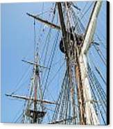 Tall Ship Rigging Canvas Print by Dale Kincaid