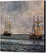 Tall Ships Canvas Print by Dale Kincaid