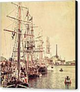 Tall Ships Canvas Print by Joel Witmeyer