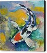 Tancho Sanke Koi Canvas Print by Michael Creese
