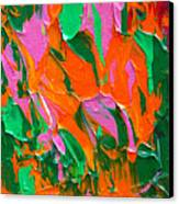 Tangerine And Lime Canvas Print by Donna Blackhall