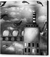 Tangerine Dream Edit 3 Canvas Print by Leah Saulnier The Painting Maniac