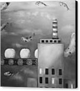 Tangerine Dream Edit 4 Canvas Print by Leah Saulnier The Painting Maniac