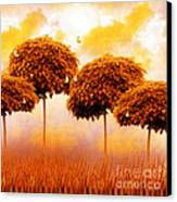 Tangerine Trees And Marmalade Skies Canvas Print by Mo T