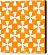 Tangerine Twirl Canvas Print by Linda Woods
