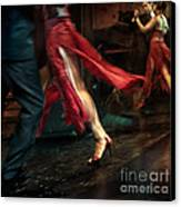 Tango Reflection Canvas Print by Michel Verhoef