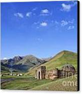 Tash Rabat Caravanserai In The Tash Rabat Valley Of Kyrgyzstan  Canvas Print by Robert Preston