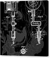 Tattoo Gun Patent Canvas Print by Dan Sproul