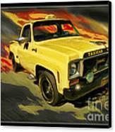 Taxicab Repair 1974 Gmc Canvas Print by Blake Richards
