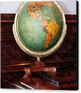 Teacher - Globe On Piano Canvas Print by Susan Savad