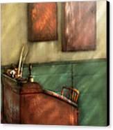 Teacher - The Teachers Desk Canvas Print by Mike Savad