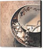 Teacup And Pearls Canvas Print by Jan Bickerton
