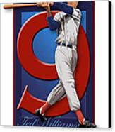 Ted Williams Canvas Print by Ron Regalado