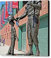 Ted Williams Statue Canvas Print by Barbara McDevitt