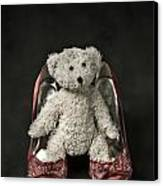 Teddy In Pumps Canvas Print by Joana Kruse
