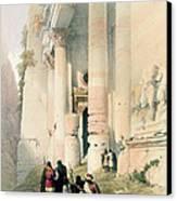 Temple Called El Khasne Canvas Print by David Roberts