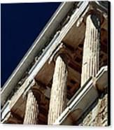 Temple Of Athena Nike Columns Canvas Print by John Rizzuto