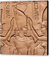 Temple Of Horus Relief Canvas Print by Stephen & Donna O'Meara