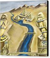 Temple Of Horus Two Out Of Three Canvas Print by Michael Cook