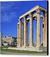 Temple Of Olympian Zeus Athens Greece Canvas Print by Ivan Pendjakov