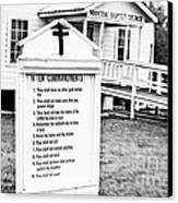 Ten Commandments Canvas Print by Scott Pellegrin