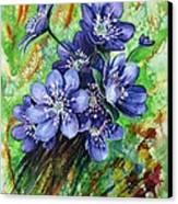 Tenderness Of Spring Canvas Print by Zaira Dzhaubaeva