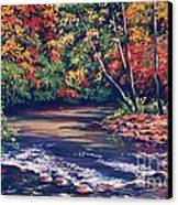 Tennessee Stream In The Fall Canvas Print by John Clark