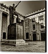 Tennessee War Memorial Black And White Canvas Print by Joshua House