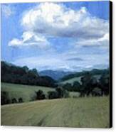 Tennessee's Rolling Hills And Clouds Canvas Print by Erin Rickelton