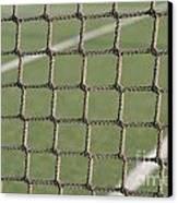 Tennis Net Canvas Print by Luis Alvarenga