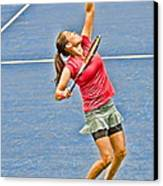 Tennis Star Jamie Hampton Canvas Print by Harold Bonacquist