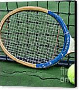Tennis - Vintage Tennis Racquet Canvas Print by Paul Ward
