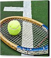 Tennis - Wooden Tennis Racquet Canvas Print by Paul Ward