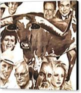 Texas Born Canvas Print by Bill Olivas