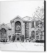 Texas Home 2 Canvas Print by Hanne Lore Koehler