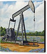 Texas Oil Well Canvas Print by Jimmie Bartlett