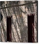Texas Pioneer Church Doors Canvas Print by Connie Fox