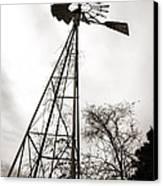 Texas Windmill Canvas Print by Marilyn Hunt