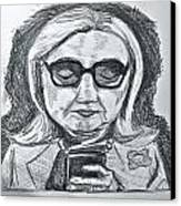 Texts From Hillary Canvas Print by Cheryl Bond