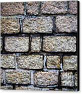 Texture Of Old Wall Canvas Print by Niphon Chanthana
