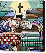 Thank You Jesus When Two Or More Are Gathered Canvas Print by Anthony Falbo