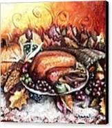 Thanksgiving Dinner Canvas Print by Shana Rowe Jackson