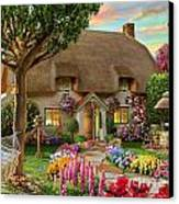 Thatched Cottage Canvas Print by Adrian Chesterman