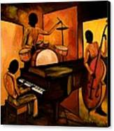 The 1st Jazz Trio Canvas Print by Larry Martin