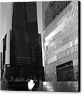 The 911 Memorial In Black And White Canvas Print by Dan Sproul