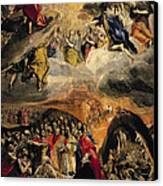The Adoration Of The Name Of Jesus Canvas Print by El Greco Domenico Theotocopuli
