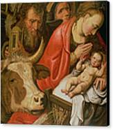 The Adoration Of The Shepherds Canvas Print by Pieter Aertsen