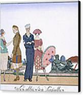 The Allies In Versailles Canvas Print by Georges Barbier