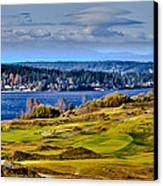 The Amazing Chambers Bay Golf Course - Site Of The 2015 U.s. Open Golf Tournament Canvas Print by David Patterson
